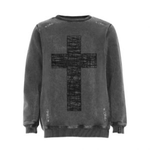 Enzo Couture Sudadera Grey Cross Asturias