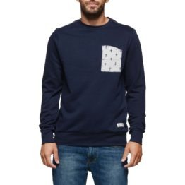 Element Coleson Crew Sweater Navy Asturias