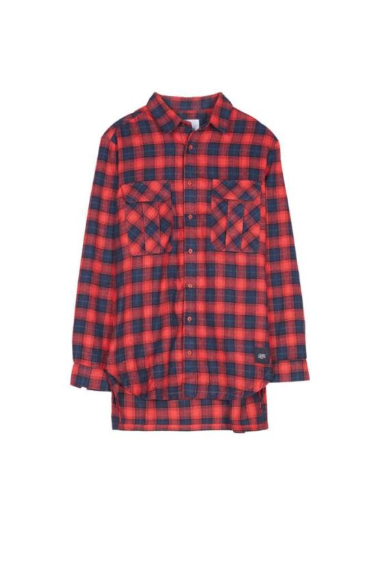 Sixth June flannel shirt pockets red Asturias