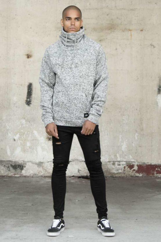 Sixth June high-necked Sweatshirt grey Asturias
