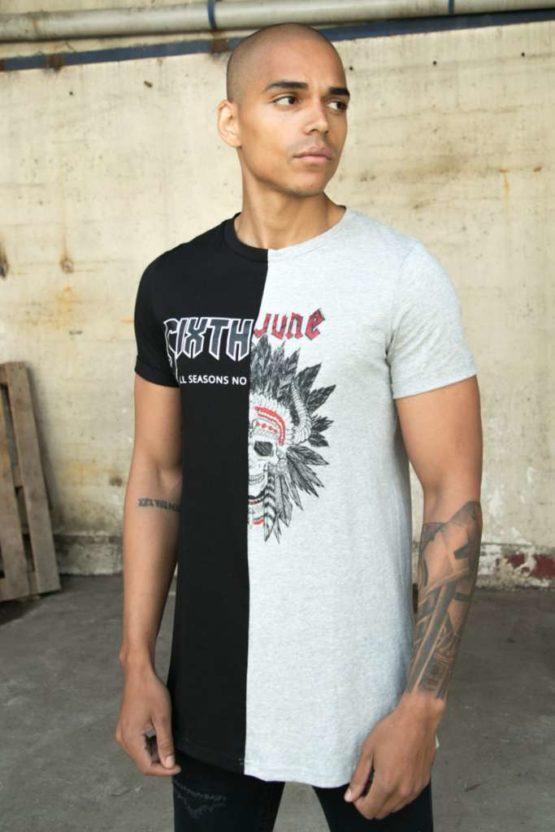 Sixth June two-tone Monsters T-Shirt black grey Asturias