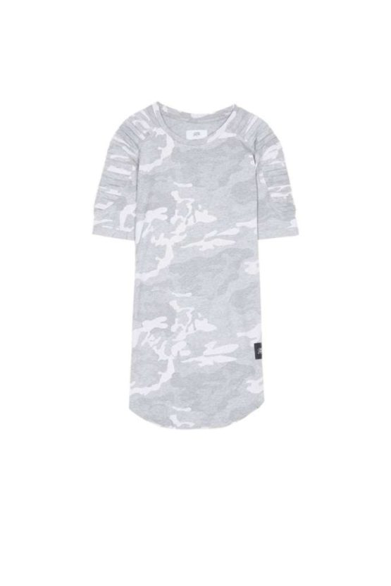 Sixth June biker camouflage T-shirt grey Asturias