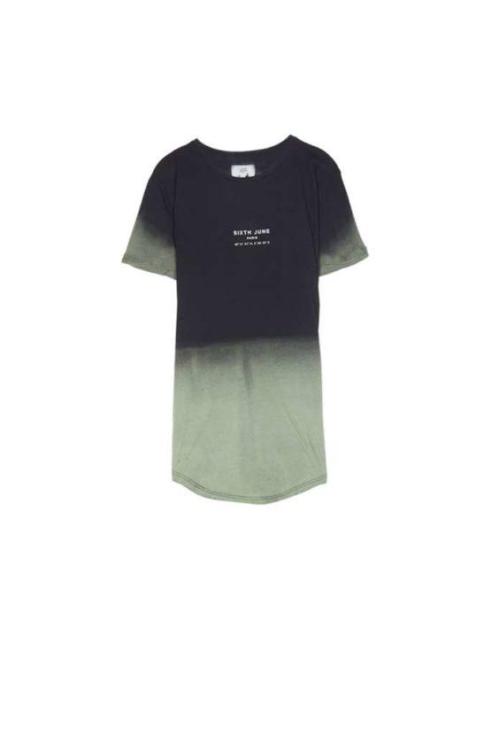 Sixth June tie dye Paris GPS T-shirt black khaki Asturias