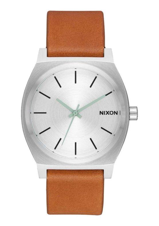 Nixon Time Teller Silver Tan Asturias