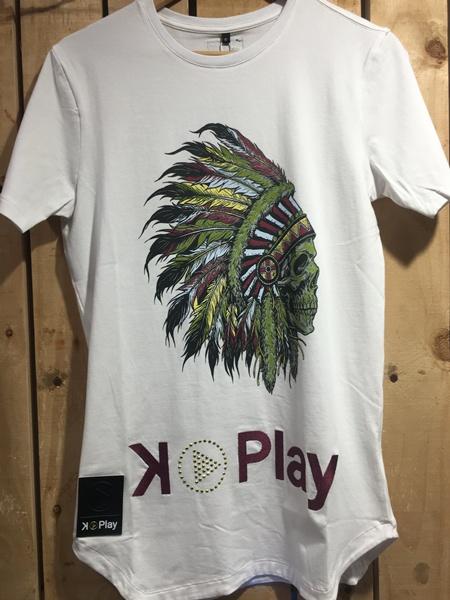 hottershop Kplay Camiseta Indios Blanco Unisex
