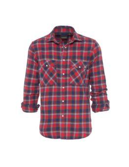hottershop Altonadock Camisa de cuadros blancos azules y rojos