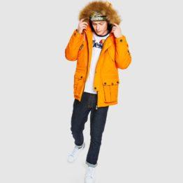 hottershop Ellesse Blizzard parka jacket orange