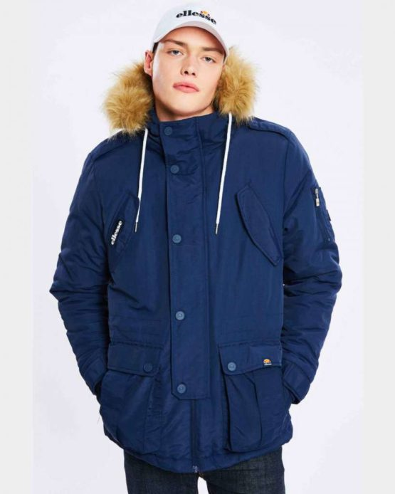 hottershop Ellesse Blizzard Parka Jacket Navy