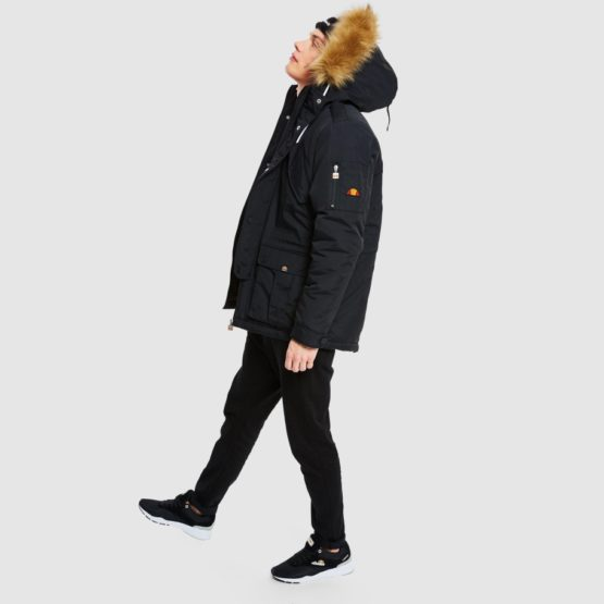 hottershop Ellesse Blizzard parka jacket black