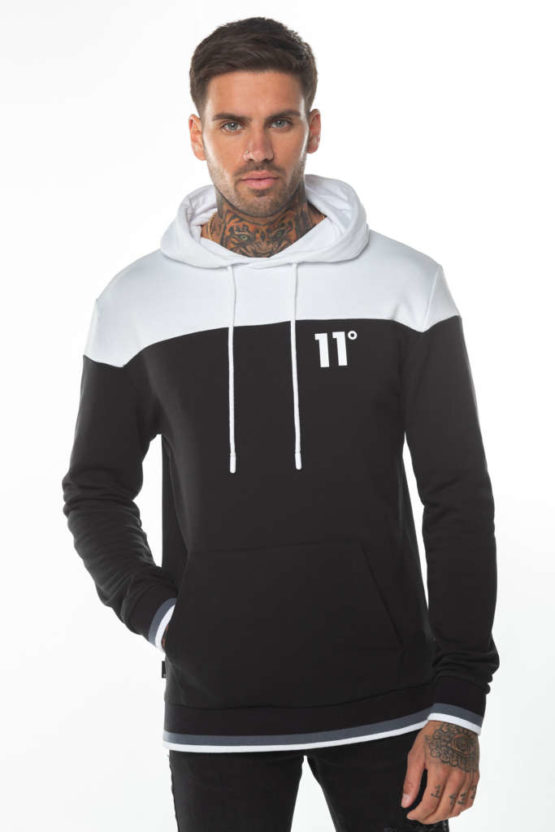 hottershop 11 Degrees CUT & SEW RIBBED PULLOVER HOODIE
