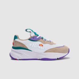 hottershop Ellesse Womens Massello trainer khaki white purple