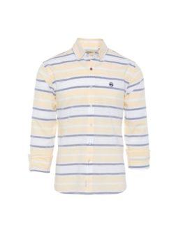 hottershop Altonadock Camisa Rayas Amarillo Azul Blanco asturias