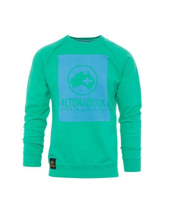 hottershop Altonadock Sudadera Verde Logo Azul asturias