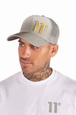 hottershop 11 Degrees Dot Fade Trucker Cap Silver asturias