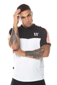 hottershop 11 Degrees PANEL BLOCK T-SHIRT