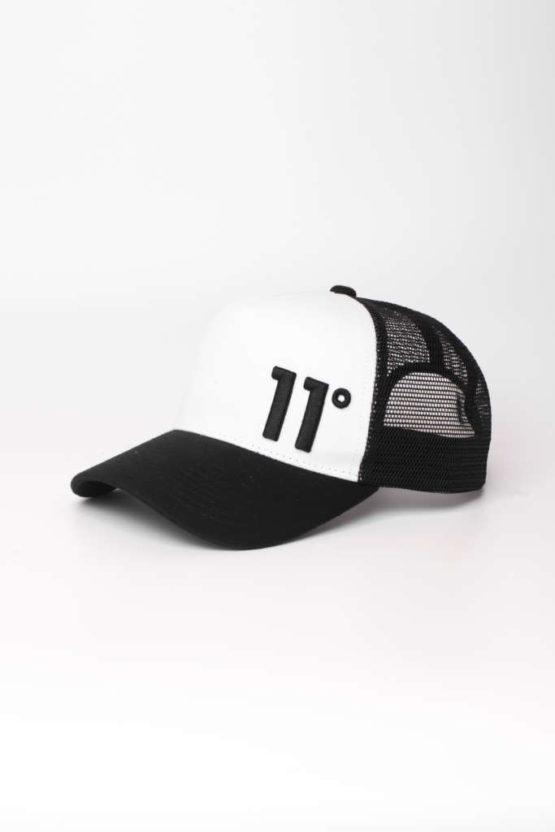 hottershop 11 Degrees TRUCKER CAP Black White