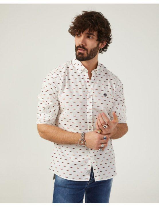 hottershop Altonadock Camisa Blanca Estampado Peces