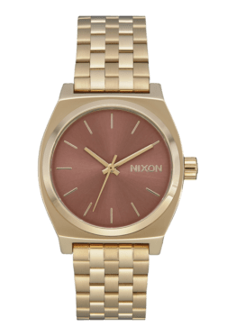 hottershop Nixon Medium Time Teller Light Gold Marsala