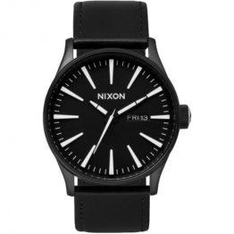 hottershop Nixon Sentry Leather Black White