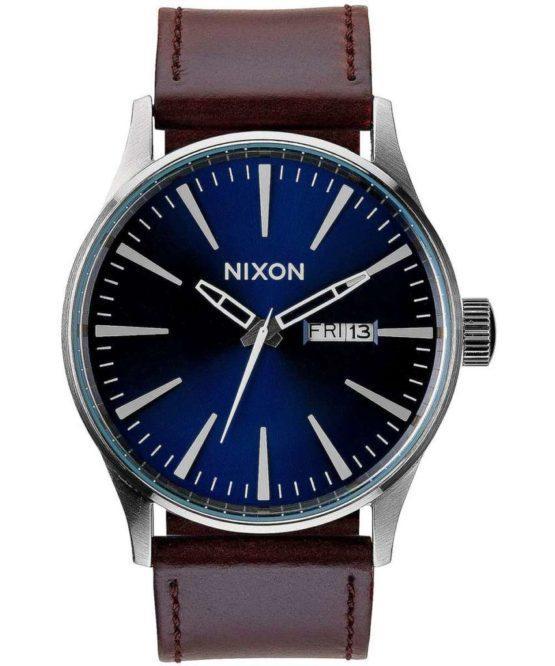 hottershop Nixon Sentry Leather Blue Brown