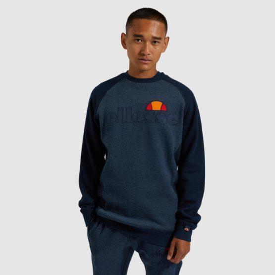 hottershop Ellesse Tyson sweatshirt navy marl