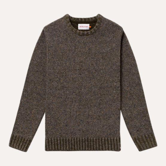 hottershop Revolution Jersey Crewneck knit 6538 Army