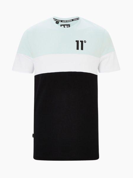 HOTTERSHOP 11 DEGEES TRIPLE PANEL CUT AND SEW T-SHIRT GLACIER GREEN