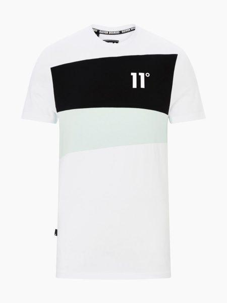 HOTTERSHOP 11 DEGREES ASTRO T-SHIRT WHITE BLACK GLACIER GREEN