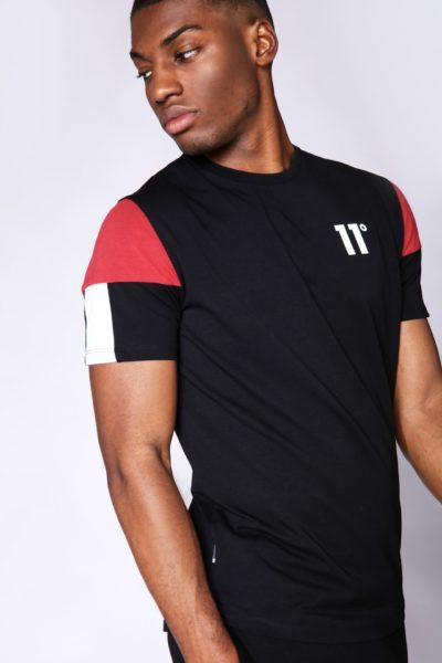 hottershop 11 DEGREES CARBON T-SHIRT BLACK BRICK RED WHITE