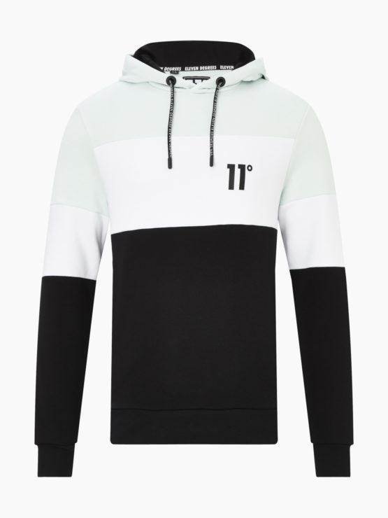 HOTTERSHOP 11 DEGREES TRIPLE PANEL CUT AND SEW PULLOVER HOODIE GLACIER GREEN