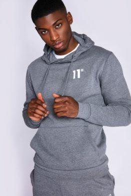 HOTTERSHOP 11 DEGREES Core Pullover Hoodie Charcoal Marl