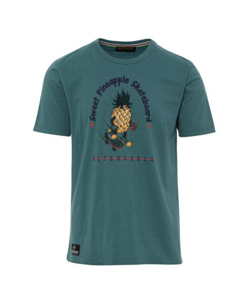 "HOTTERSHOP Camiseta verde azulado ""Piña skater"""