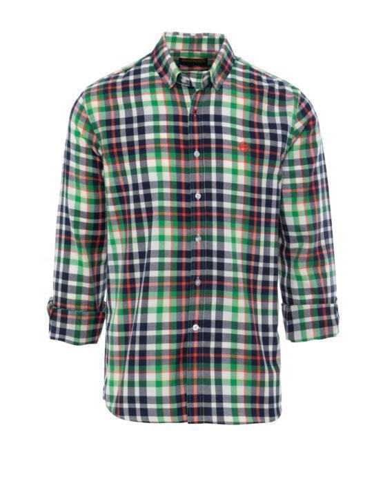 HOTTERSHOP ALTONADOCK Camisa cuadros verde y azul